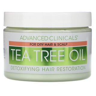 Advanced Clinicals, Tea Tree Oil, Detoxifying Hair Mask, 12 oz (340 g)