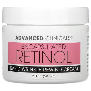 Advanced Clinicals, Encapsulated Retinol, Rapid Wrinkle Rewind Cream, 2 fl oz (59 ml)