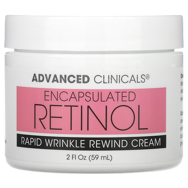 Advanced Clinicals, Encapsulated Retinol, Rapid Wrinkle Rewind Cream, 2 fl oz (59 ml)