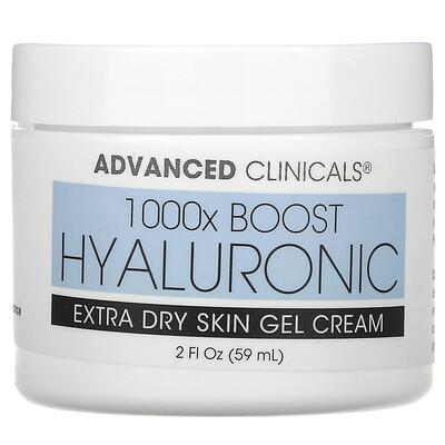 Advanced Clinicals Hyaluronic, Extra Dry Skin Gel Cream, 2 fl oz (59 ml)