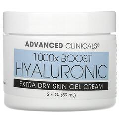 Advanced Clinicals, 透明質酸,修復格外乾性皮膚凝膠-霜,2 液量盎司(59 毫升)