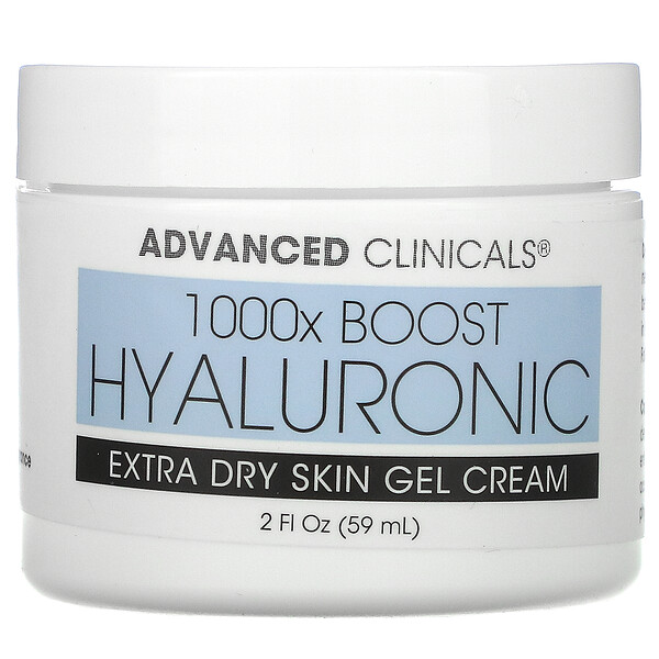 Advanced Clinicals, Hyaluronic, Extra Dry Skin Gel Cream, 2 fl oz (59 ml)