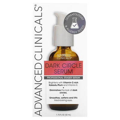 Advanced Clinicals Dark Circle Serum, Fragrance Free, 1.75 fl oz (52 ml)