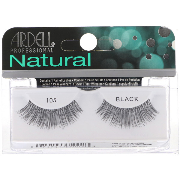 Ardell, Natural, pestañas #105, 1 par