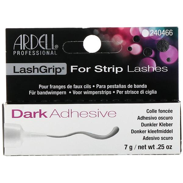 品牌從A - ZArdell類別美容化妝品眼睛睫毛膏& 睫毛:Ardell, 睫毛夾,條狀睫毛用,深色粘合劑,0、25盎司(7克)