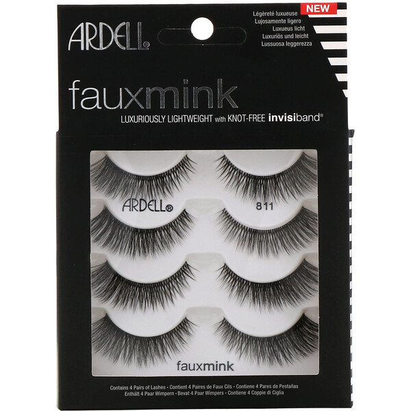 Ardell, Faux Mink, Luxuriously Lightweight Lash, 4 Pairs