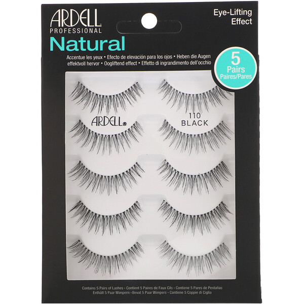Ardell, Natural Lash, Eye-Lifting Effect, 5 Pairs