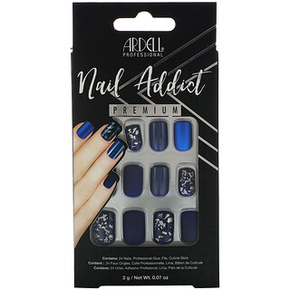 Ardell, Nail Addict Premium, Matte Blue, 0.07 oz (2 g)