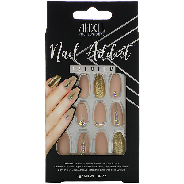 Nail Addict Premium, Nude Jeweled, 0.07 oz (2 g)