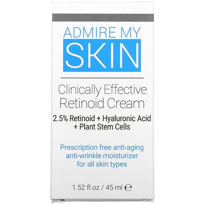 Admire My Skin Clinically Effective Retinoid Cream, 1.52 fl oz (45 ml)  - купить со скидкой