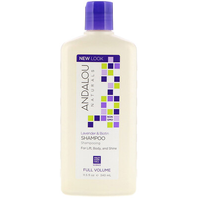 Shampoo, Full Volume, For Lift, Body, and Shine, Lavender & Biotin, 11.5 fl oz (340 ml)