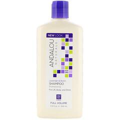 Andalou Naturals, 洗髮水,豐盈飽滿,提升,富有彈性,薰衣花草和生物維生素,11.5 盎司(340 毫升)
