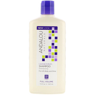 Andalou Naturals, Shampoo, Full Volume, For Lift, Body, and Shine, Lavender & Biotin, 11.5 fl oz (340 ml)