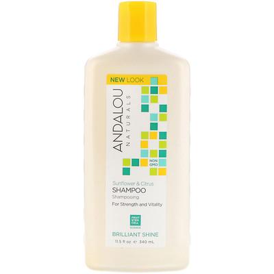 Shampoo, Brilliant Shine, For Strength and Vitality, Sunflower & Citrus, 11.5 fl oz (340 ml)
