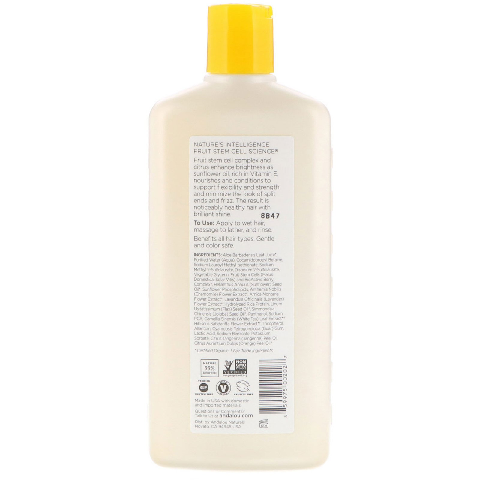 Andalou Naturals Shampoo Brilliant Shine For Strength And Clear Strong Ampamp Soft 340 Ml Click To Zoom