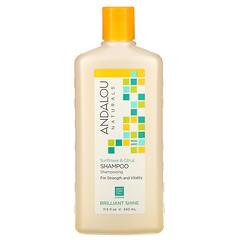 Andalou Naturals, 潤澤洗髮水,有助於支持髮質和煥活頭髮,向日葵柑橘味,11.5 液量盎司(340 毫升)