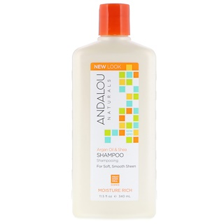 Andalou Naturals, Shampoo, For Soft, Smooth Sheen, Moisture Rich, Argan Oil & Shea, 11.5 fl oz (340 ml)