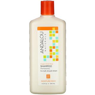Andalou Naturals, Shampoo, Moisture Rich, For Soft, Smooth Sheen, Argan Oil & Shea, 11.5 fl oz (340 ml)