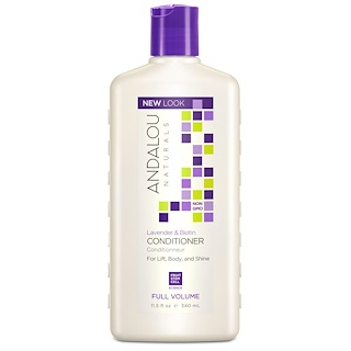 Andalou Naturals, Conditioner, Full Volume, For Lift, Body, and Shine, Lavender & Biotin, 11.5 fl oz (340 ml)