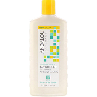 Andalou Naturals, Conditioner, Brilliant Shine, For Strength and Vitality, Sunflower & Citrus, 11.5 fl oz (340 ml)