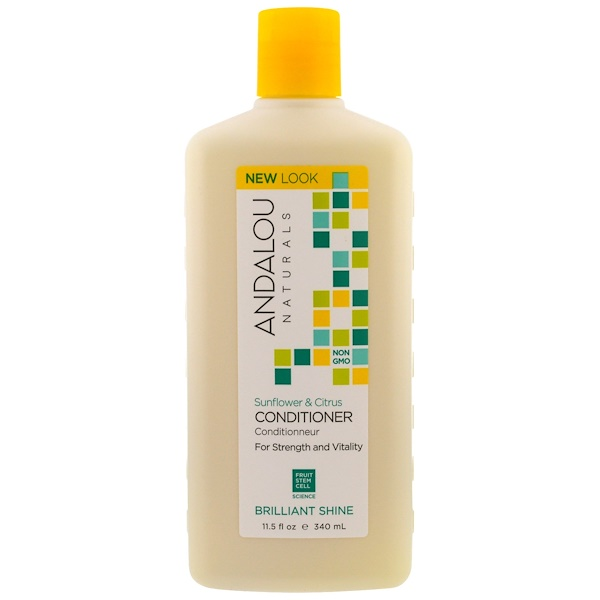Andalou Naturals, コンディショナー、輝く髪、強さと活力、ヒマワリ & 柑橘類, 11.5 fl oz (340 ml)