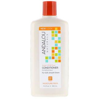 Andalou Naturals, Conditioner, Moisture Rich, For Soft, Smooth Sheen, Argan Oil & Shea, 11.5 fl oz (340 ml)