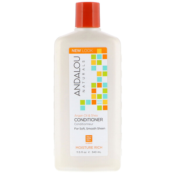 Conditioner, Moisture Rich, For Soft, Smooth Sheen, Argan Oil & Shea, 11.5 fl oz (340 ml)