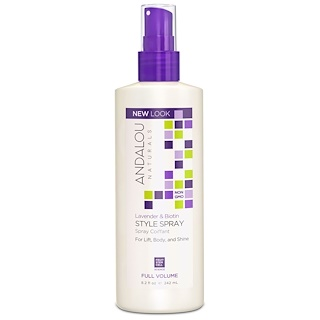 Andalou Naturals, Style Spray, Full Volume, Lavender & Biotin, 8.2 fl oz (242 ml)