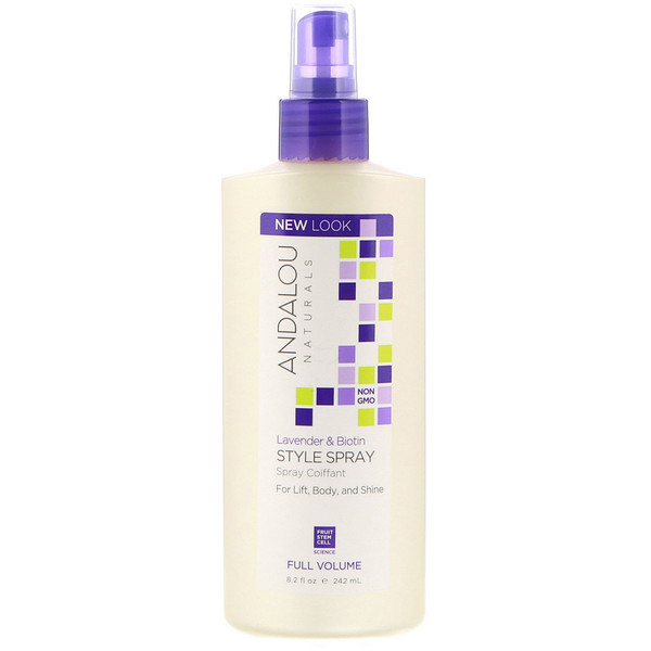 Andalou Naturals, Lavender & Biotin Full Volume Style Spray, 8.2 fl oz (242 ml) (Discontinued Item)