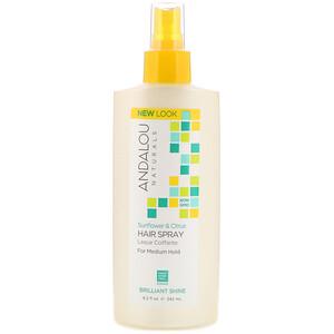 Андалу Натуралс, Hair Spray, Brilliant Shine, Sunflower & Citrus, Medium Hold, 8.2 fl oz (242 ml) отзывы покупателей