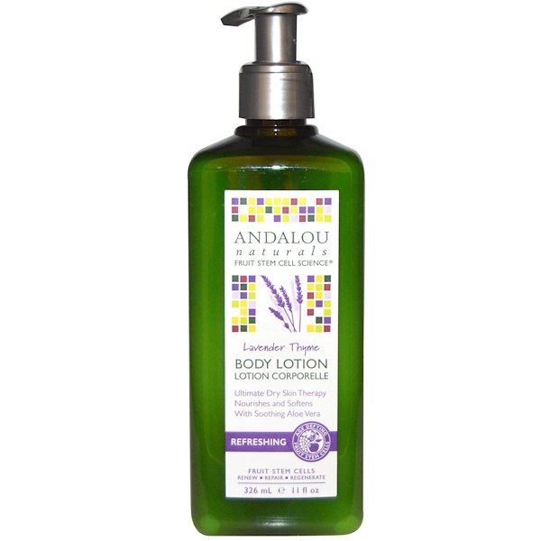 Andalou Naturals, Refreshing Body Lotion, Lavender Thyme, 11 fl oz (326 ml) (Discontinued Item)