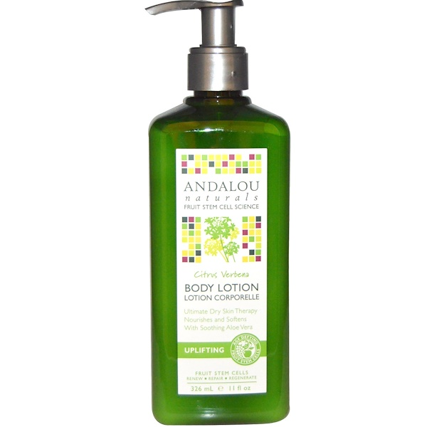Andalou Naturals, Uplifting Body Lotion Citrus Verbena, 11 fl oz (326 ml) (Discontinued Item)