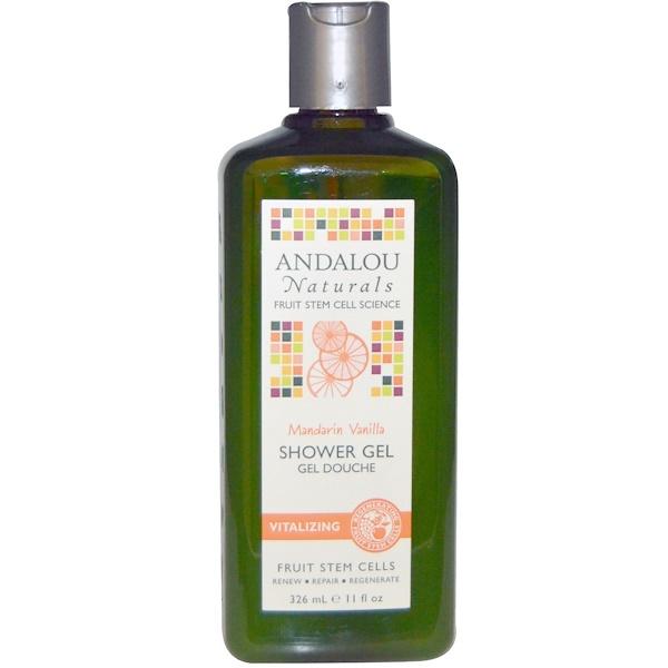 Andalou Naturals, Mandarin Vanilla Vitalizing Shower Gel, 11 fl oz (326 ml) (Discontinued Item)