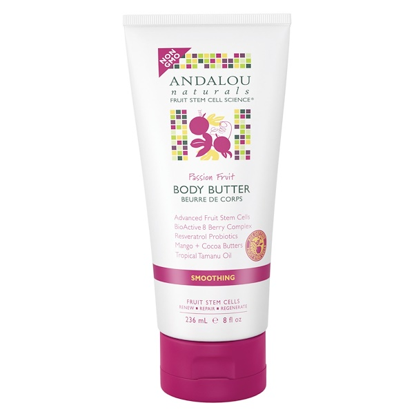 Andalou Naturals, Body Butter, Passion Fruit, Smoothing, 8 fl oz (236 ml) (Discontinued Item)