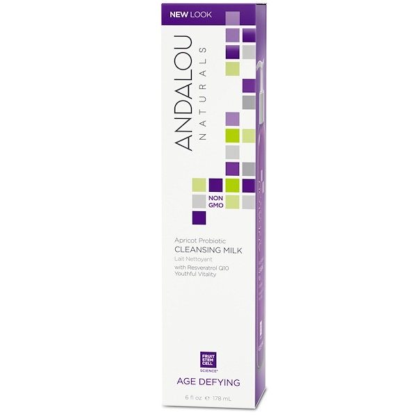 Andalou Naturals, Cleansing Milk, Apricot Probiotic, Age Defying, 6 fl oz (178 ml)
