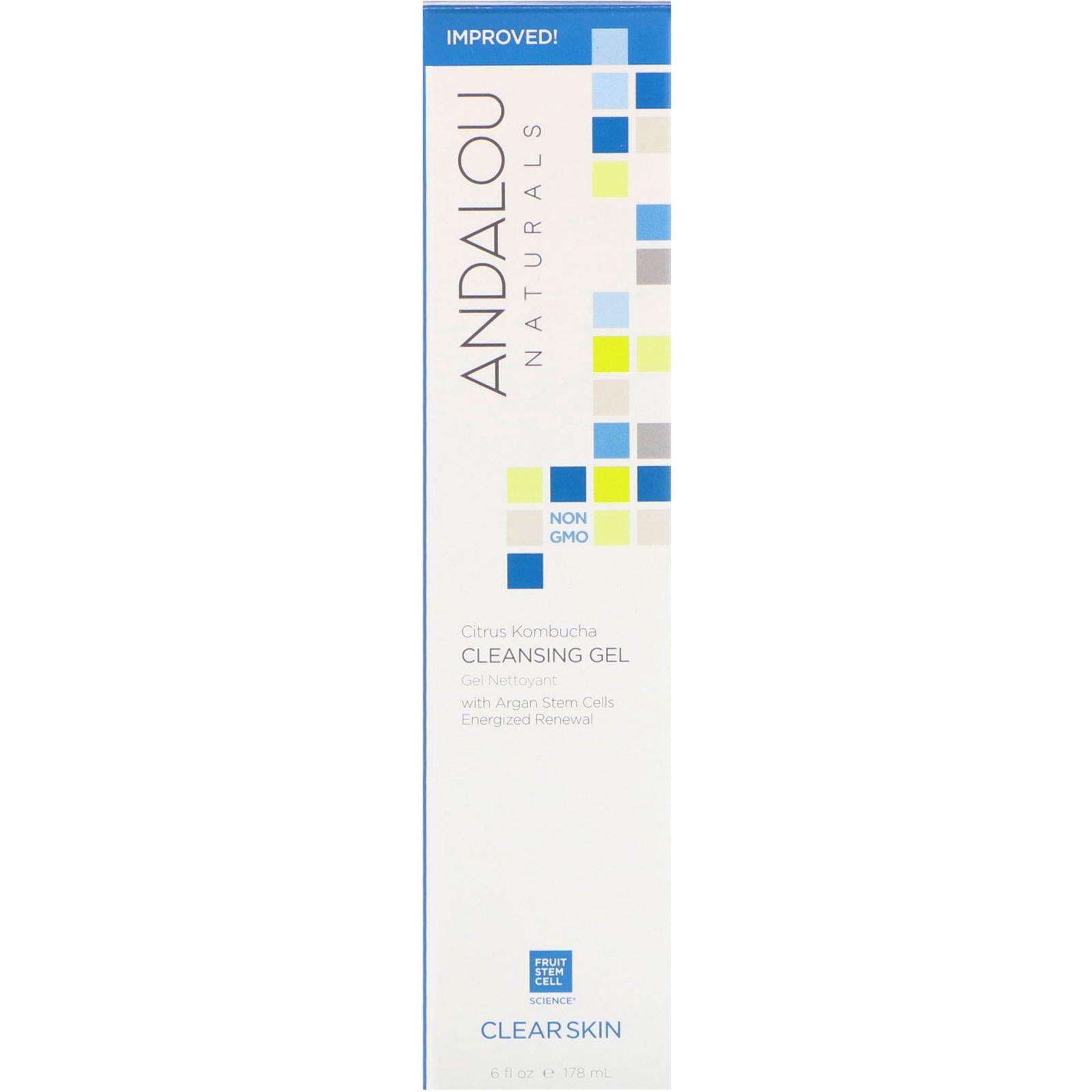 Andalou Naturals Cleansing Gel Citrus Kombucha Clear Skin 6 Fl Shampoo Strong Soft Women 170 Ml Oz