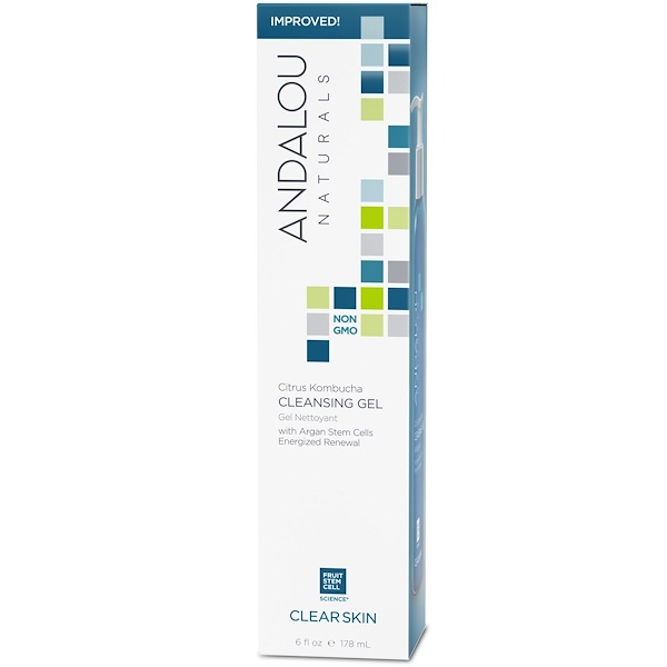 Andalou Naturals, Gel limpiador, Citrus Kombucha, piel clara, 6 oz (178 ml)