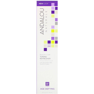 Andalou Naturals, Tonificador refrescante, Blossom + Leaf, Rejuvenescedor, 6 fl oz (178 ml)