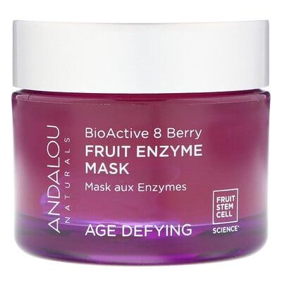 Andalou Naturals Фруктовая ферментная маска, биоактивный комплекс 8 ягод, антивозрастная, 50 г (1, 7 унции)  - купить со скидкой