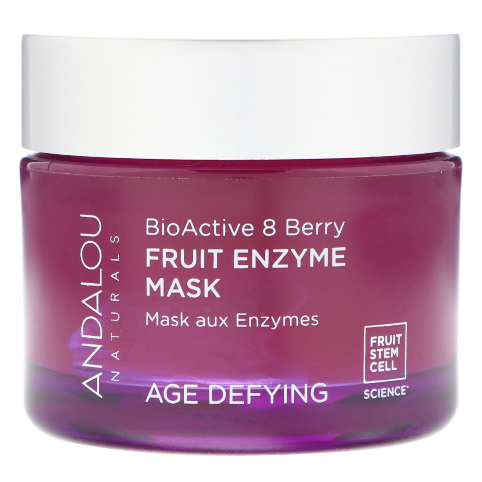 Age-Defying Enzyme Face Mask Bioactive 8 Berry - 1.7 oz. by Andalou Naturals (pack of 4) Burts Bees 100% Natural Moisturizing Lip Balm, Vanilla Bean -  2 Tubes