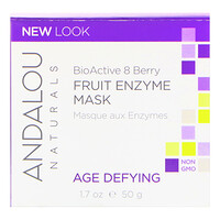 Andalou Naturals, Fruit Enzyme Mask, BioActive 8 Berry, Age Defying, 1.7 oz (50 g)