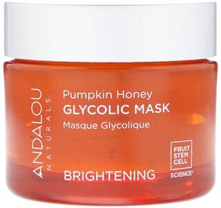 Andalou Naturals, Glycolic Beauty Mask, Pumpkin Honey, Brightening, 1.7 oz (50 g)