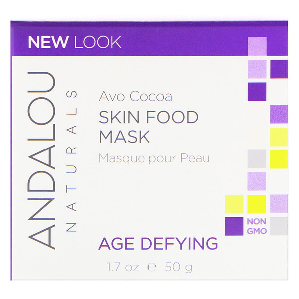Andalou Naturals, Avo Cocoa, Skin Food Mask, 1.7 fl oz (50 ml)