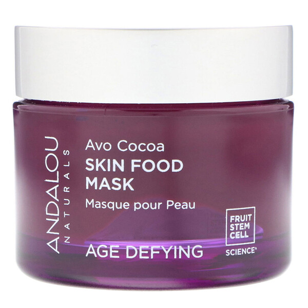 Andalou Naturals, Skin Food Beauty Mask, Avo Cocoa, Age Defying, 1.7 oz (50 g)