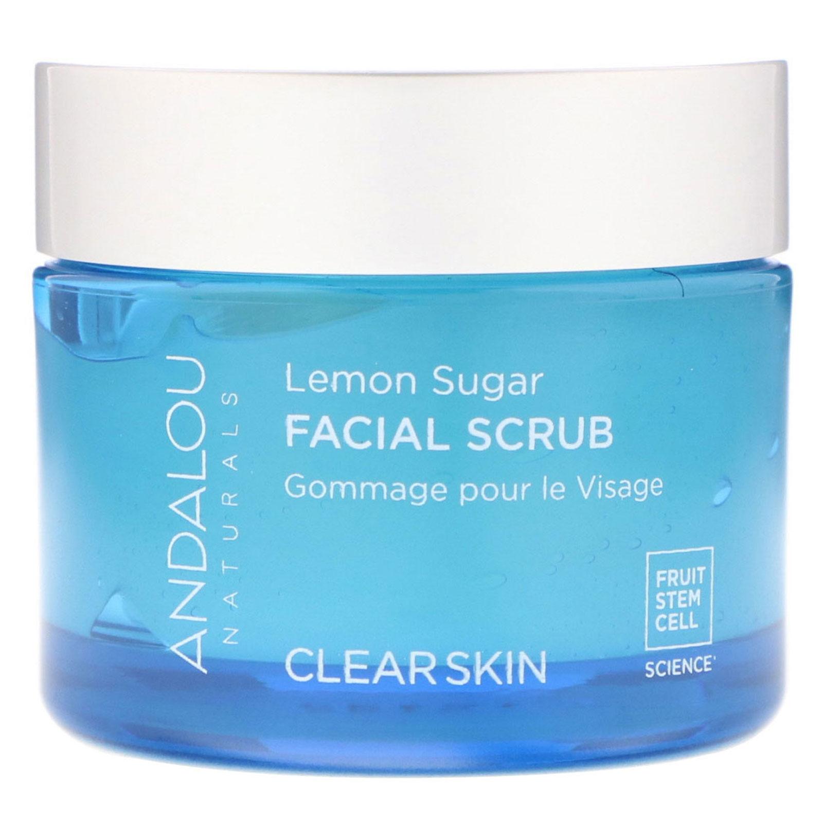 Andalou Naturals, Facial Scrub, Lemon Sugar, Clarifying, 1.7 oz (50 g) (Pack of 3) Babyface Skin Fix Serum 2.5% Retinol, 20% Vitamin C, Niacinamide ~ Fights Acne and Wrinkles, 1.2 oz.