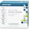 Andalou Naturals, Facial Scrub, Lemon Sugar, Clarifying, 1.7 oz (50 g)