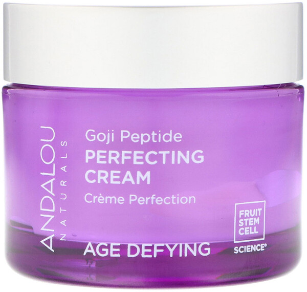 Andalou Naturals, Perfecting Cream, Goji Peptide, Age Defying, 1.7 fl oz (50 ml)