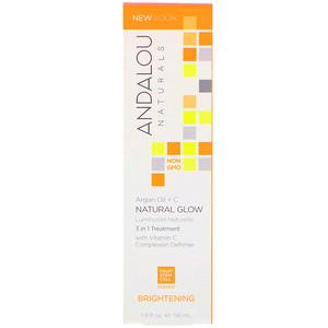 Андалу Натуралс, Natural Glow, 3 in 1 Treatment, Argan Oil + C, Brightening, 1.9 fl oz (56 ml) отзывы покупателей