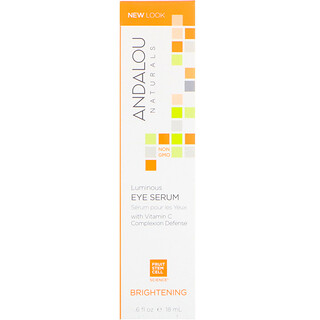 Andalou Naturals, Luminous Eye Serum, Brightening, .6 fl oz (18 ml)