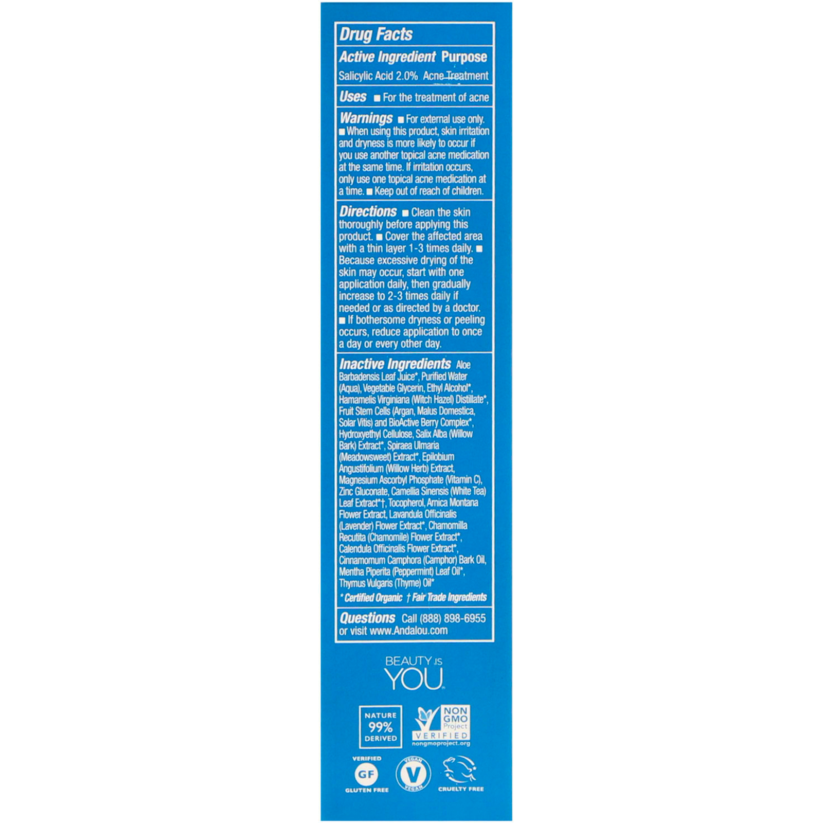 Andalou Naturals - Clear Skin Blemish Vanishing Gel - 0.6 oz.(pack of 6) Aloe Vesta Protective Ointment, 8 Ounce Tube, Unscented, Convatec 324908 - Each